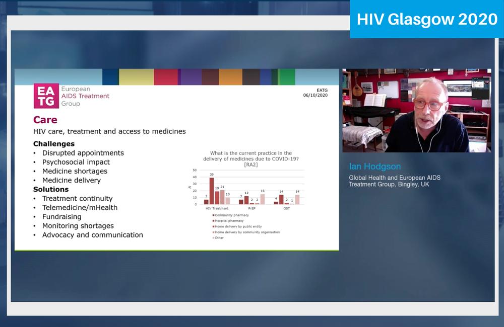 Ian Hodgson presenting to HIV Glasgow 2020.
