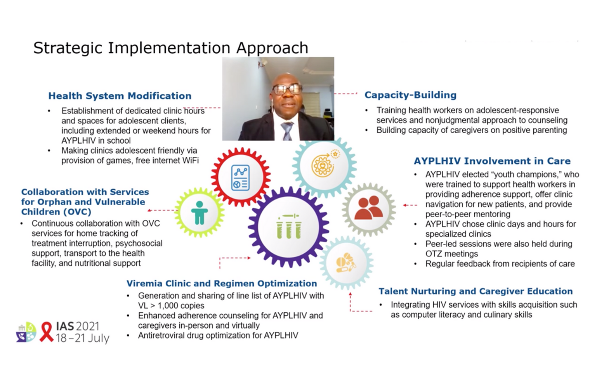 Diapositiva de la presentación sobre el estudio nigeriano realizada por el doctor Franklin Emerenini en la IAS 2021.