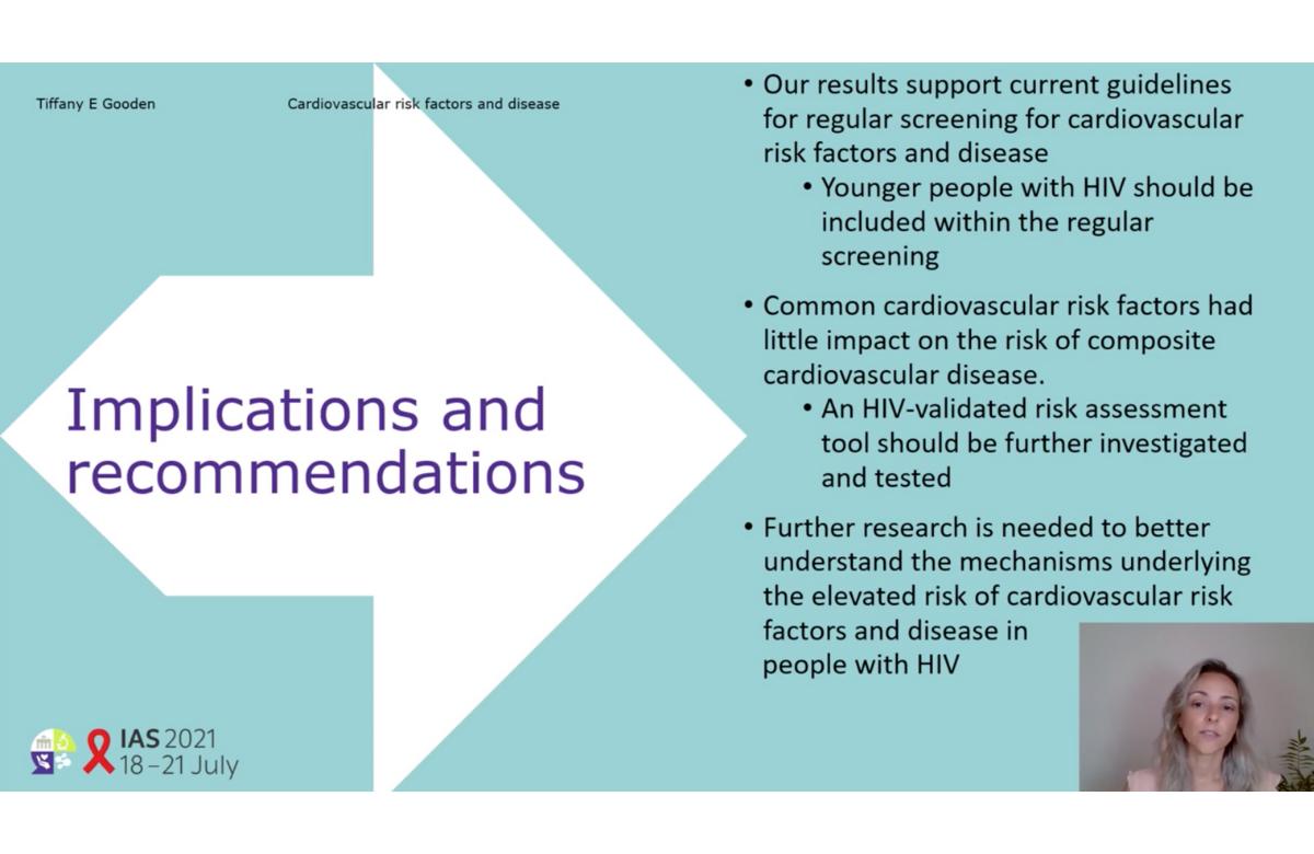 Diapositiva de la presentación de Tiffany Gooden en la IAS 2021.