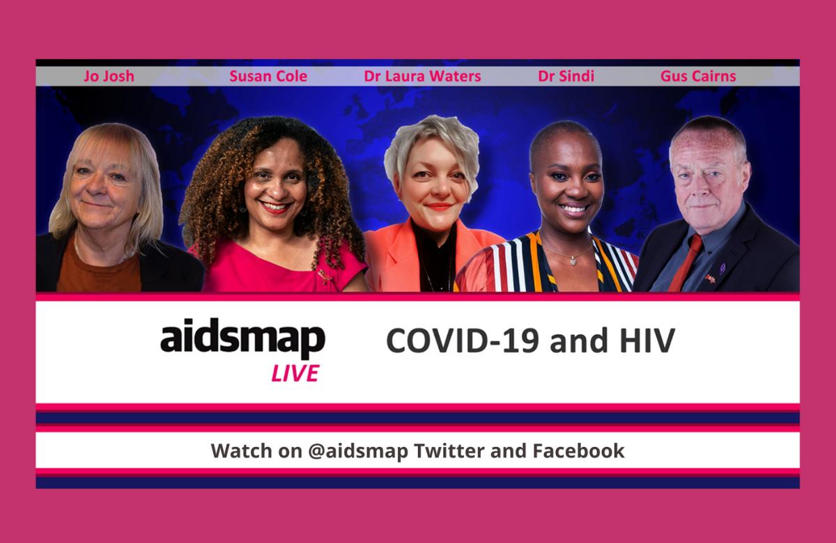 aidsmapLIVE COVID-19 HIV