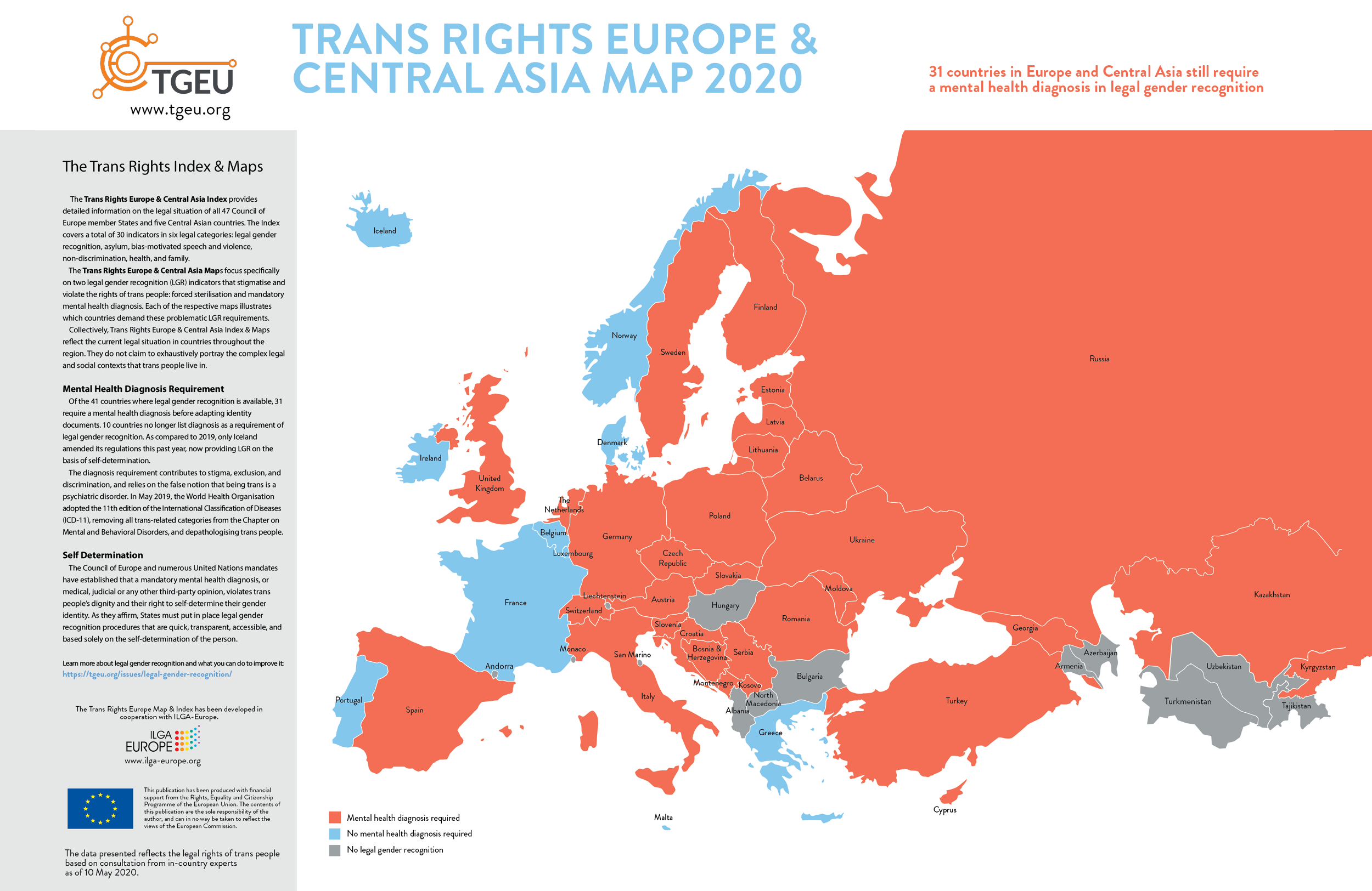 2020 Trans Rights Europe & Central Asia Map