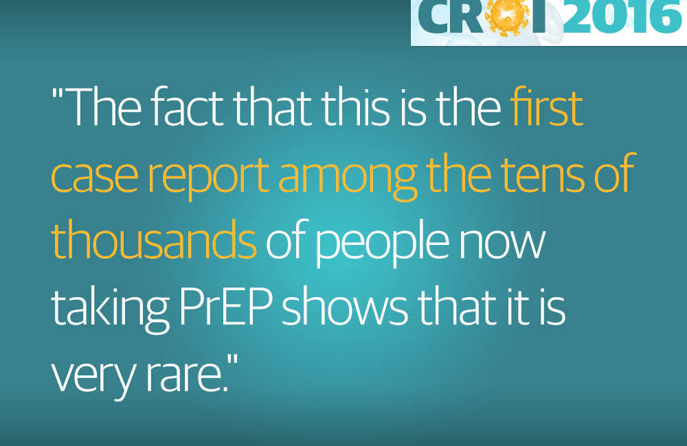 Almost-certain case of PrEP failure due to drug resistance reported