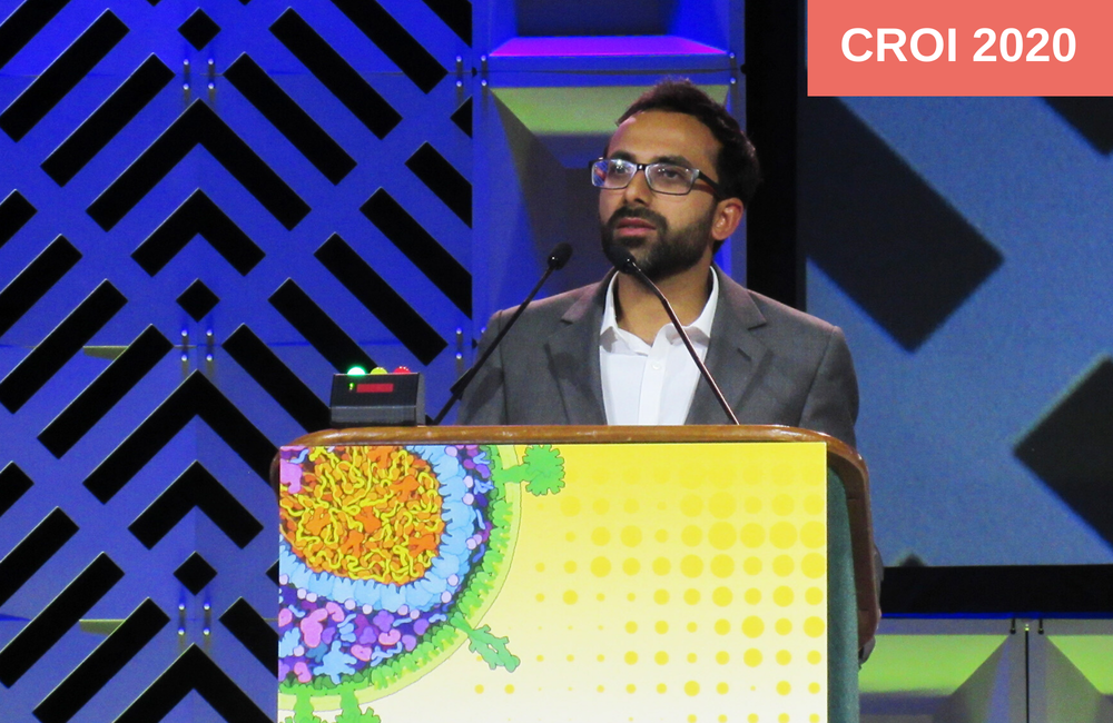 Ravindra Gupta first presenting the case at CROI 2019 in Seattle